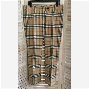 Burberry London Cropped Wool Nova Check Trouser 8